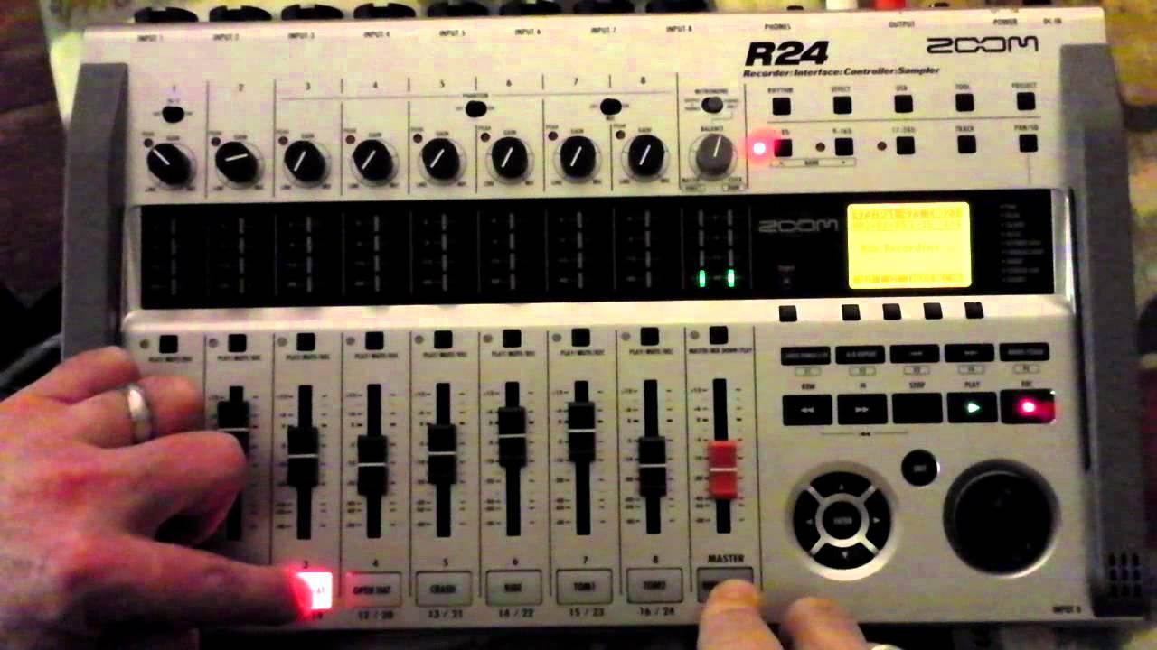 zoom r24 part 6 c  - drum patterns  u0026 loops