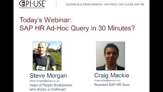 Webinar How To Use SAP HR Ad-Hoc Query In 30 Minutes