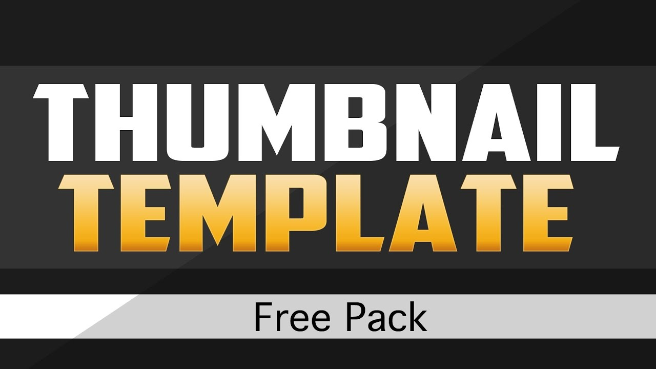 YouTube Thumbnail Template