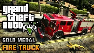 GTA 5 Mission #65 Fire Truck [100% Gold Medal