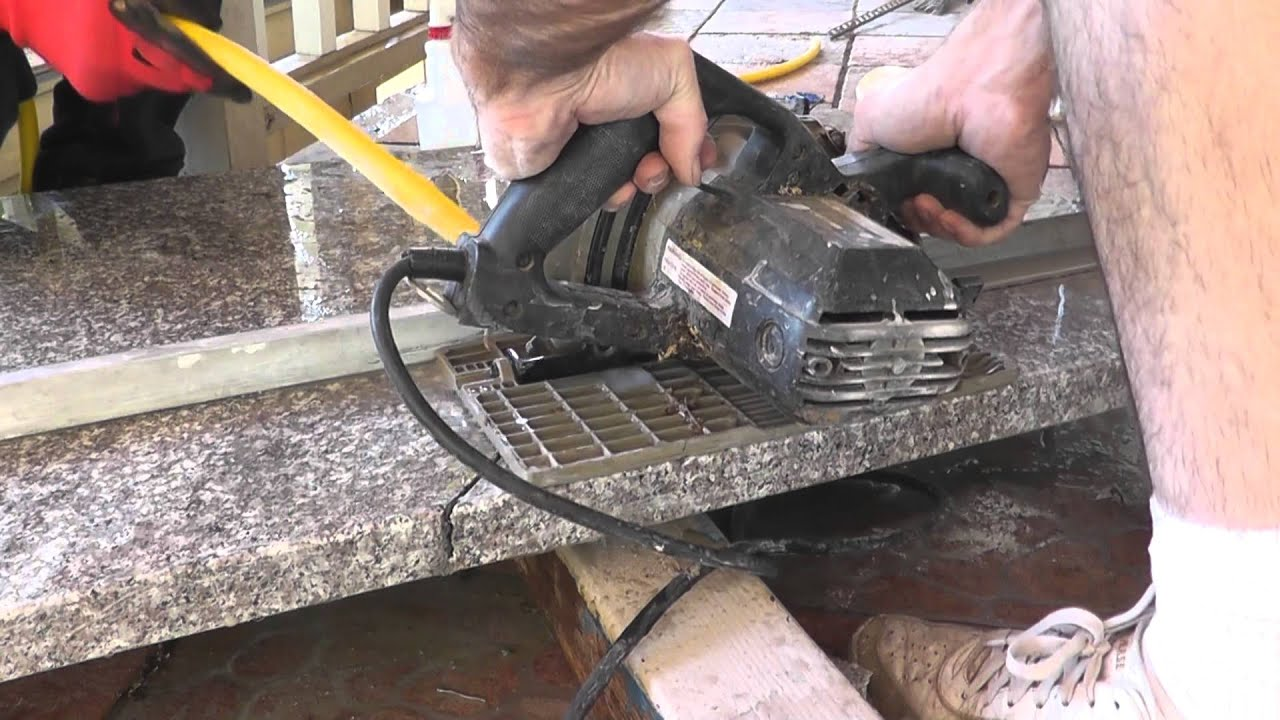 Cutting Granite Countertop : How To Install Granite Countertops On A Budget - Part 3 - Cut & Fit ...