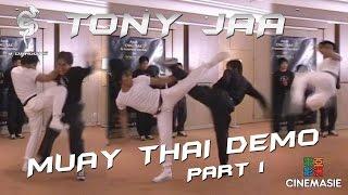 Tony Jaa Muay Thai Demo (Part 1) [Paris 2005]