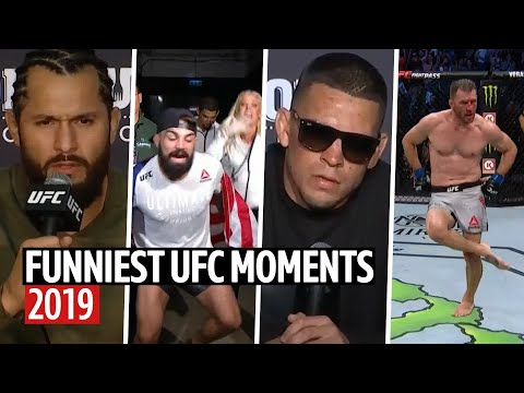 Funniest UFC moments of the year 2019!