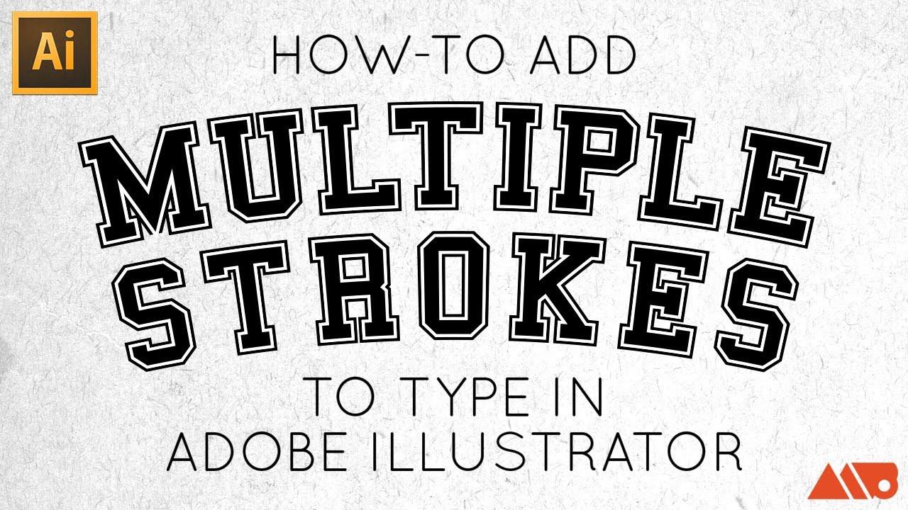 how to add stroke in illustrator