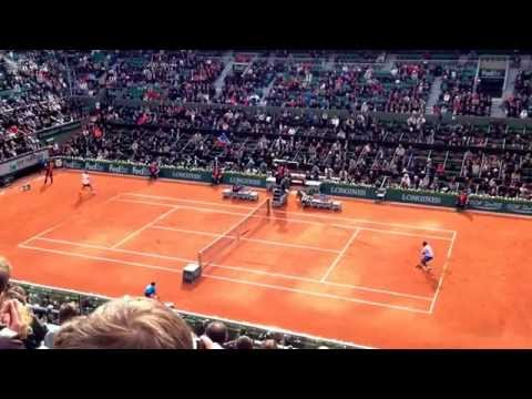 French Open 27 May 2014 - 1st Round Gael Monfils vs Victor Hanescu at Roland Garros