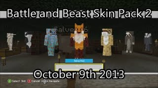 Minecraft Xbox 360 Battle And Beasts Skin Pack #2 Is