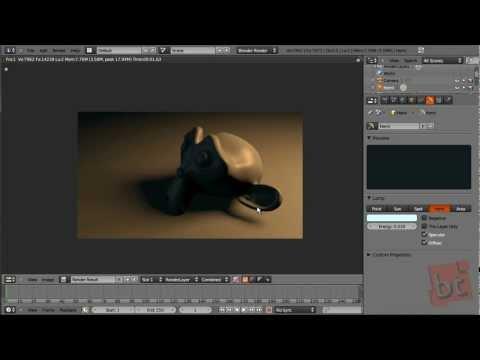 tutorial: Materials, Lights & Rendering Part 02 (Blender 2.5)
