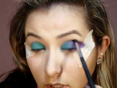 Maquiagem Azul e Roxa ჱܓ ~ Extravaganza por Van Almeida