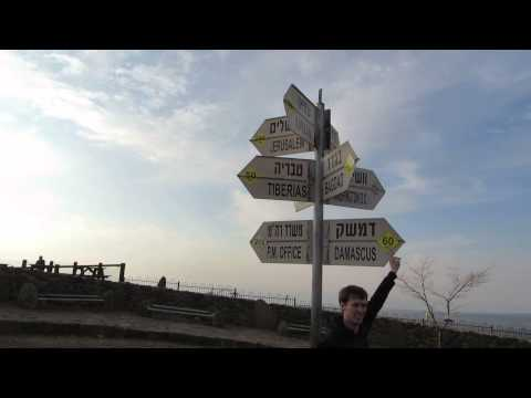 The border between Syria and Israel. Only 60 km from Damascus - Golan Heights - Mount Bental: