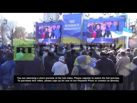 Ukraine: Presidential candidate Tymoshenko gives Kiev address