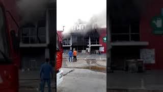 فيديو عاجل لحريق مهول بمتاجر ''بريكوما'' بالرباط | زووم