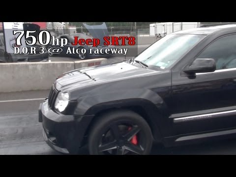 750hp Jeep Srt8 test run at Atco Raceway