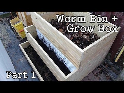 Compost Worm Bin / Grow Box  part1