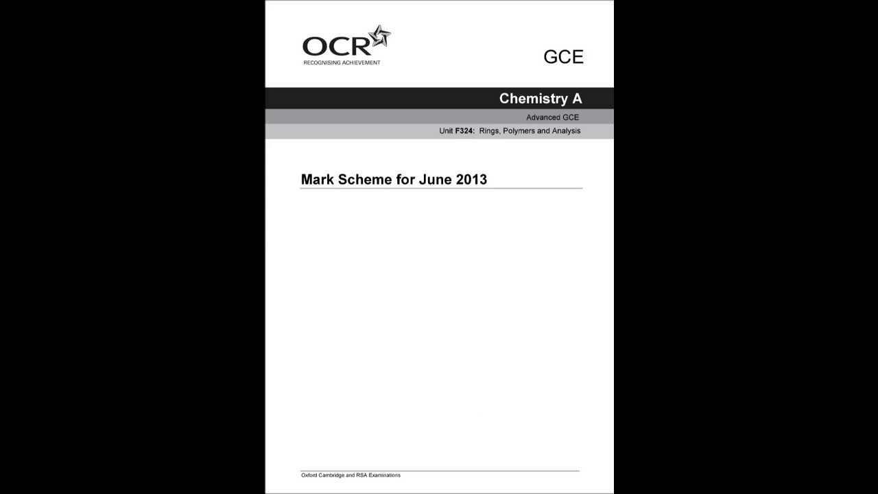 Ocr terminal paper mark scheme