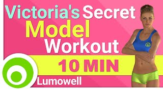 Full Body Victoria's Secret Model Workout - 10 Minutes