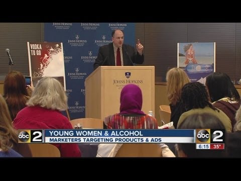Hopkins experts say alcohol marketing to young women is a problem