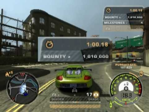 NFS MW - 1,000,000 bounty in 1 minute!!!, 1,000,000 bounty in 1 minute!!! It could be faster if I had cross for 300,000 bounty... But he didn't appear and rate