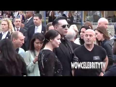Johnny Depp, Marilyn Manson, Kate Mara, Morgan Freeman and more at Transcendence Premiere in LA