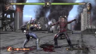 Mortal Kombat 9 Freddy Krueger VS Scorpion (+ Freddy's