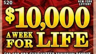 $10,000 A Week For Life NY Instant Lottery Ticket Nice Winner
