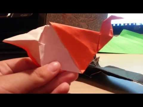 Origami Biting Butt Bird! Designed By Jeremy Shafer (Not A Tutorial)