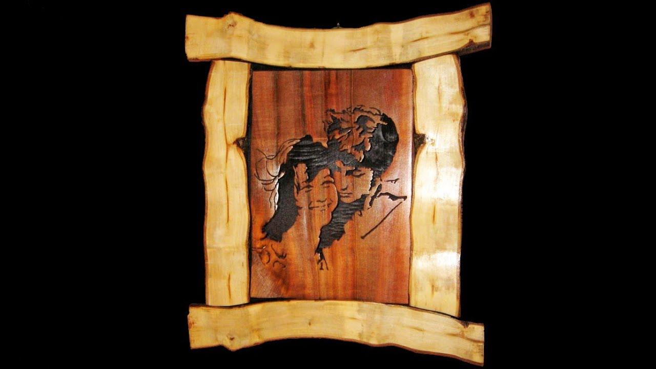 Rustic Scroll Saw Portrait - Woodworking - YouTube