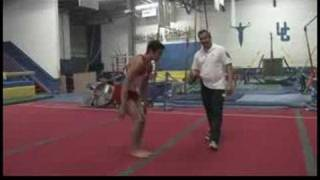 Gymnastics : How to Do a Backflip Without Jumping