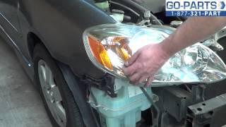 Replace 2003-2008 Toyota Corolla Headlight / Bulb, How To
