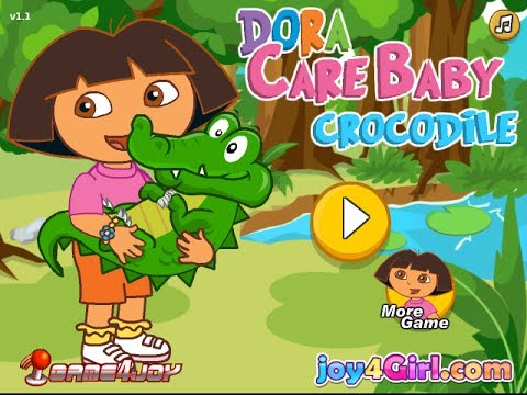 Play Free Game Dora Care Baby Crocodile Game - Dora New ...