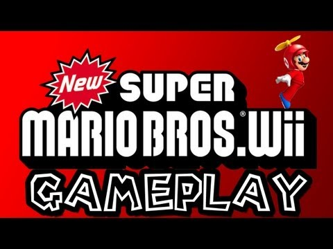 new super mario bros wii: wii title screen menu