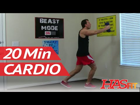 20 Min Cardio Shred Workout - HASfit Shredding Cardio Exercises - Cardio Workouts Cardiovascular