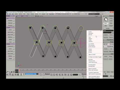 Rig an accordion lamp in Softimage
