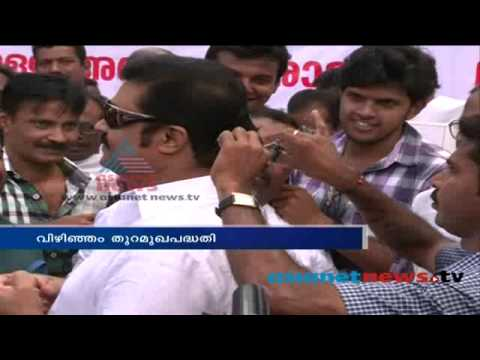 Suresh Gopi Symbolically donates hair for Vizhinjam port campaign