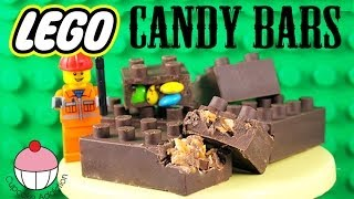 LEGO Candy Bars! How To Make NO BAKE Chocolate Lego Bricks