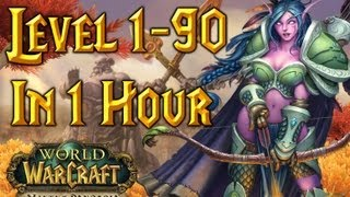 Level 1-90 In One Hour World Of Warcraft (Time-Lapse) WoW