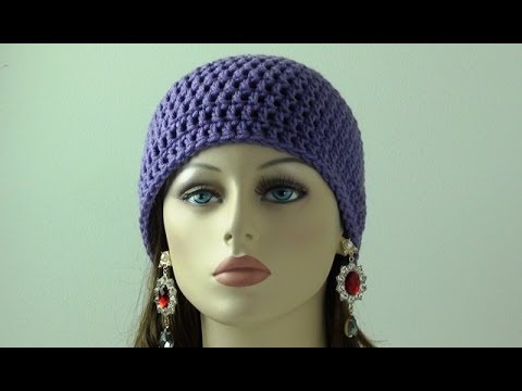 Crochet Beanie for Beginners - Adult Sizes - YouTube