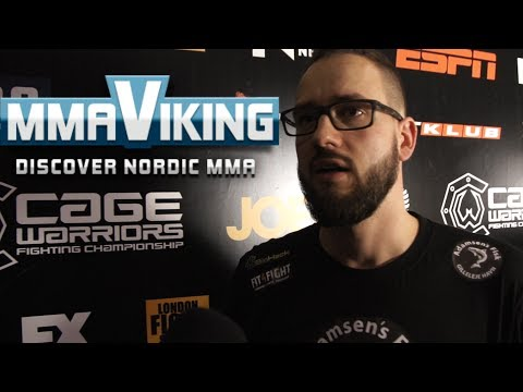Cage Warriors 66 Tue Trnka Post Fights Interview
