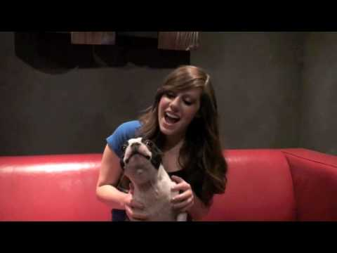 Dog singing Baby by Justin Bieber with Avery