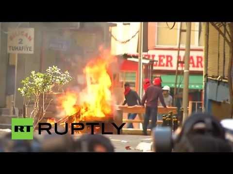 Марш против полицейской жестокости в Стамбуле закончился столкновениями
