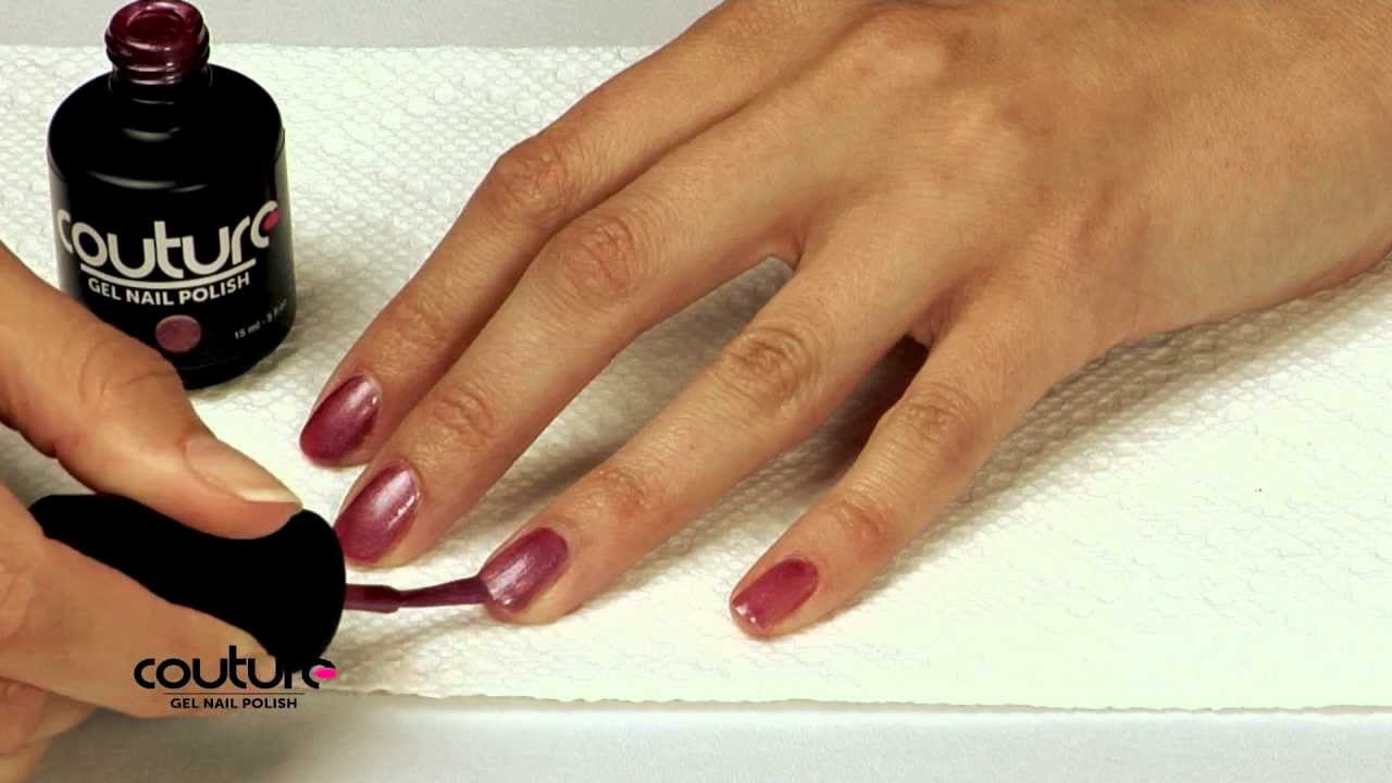 Couture Gel Nail Polish Application Tutorial - YouTube