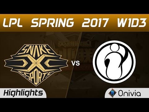SNAKE vs IG Highlights Game 1 LPL Spring 2017 W1D3   Snake Esports vs Invictus Gaming