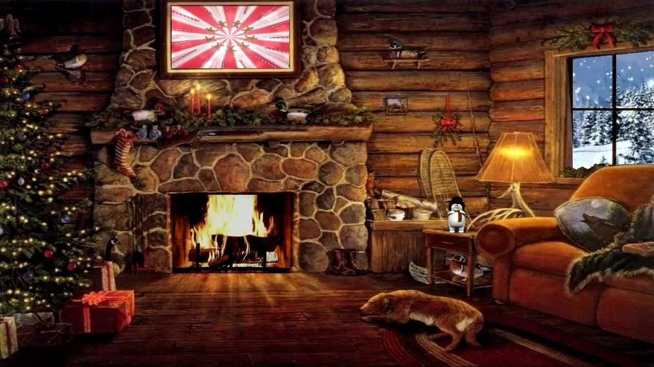 Christmas Fireplace Scene Viewing Gallery
