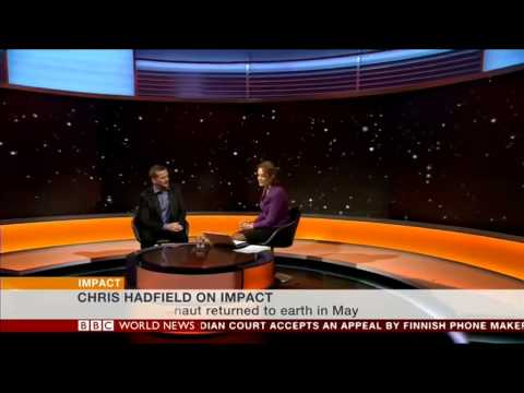 BBC World News - Lucy Hockings meets Commander Chris Hadfield