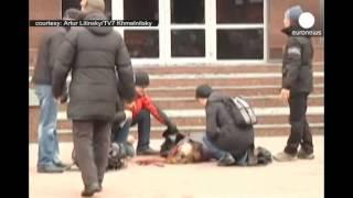 بالفيديو : اطلاق النّار على امرأة في أوكرانيا | قنوات أخرى