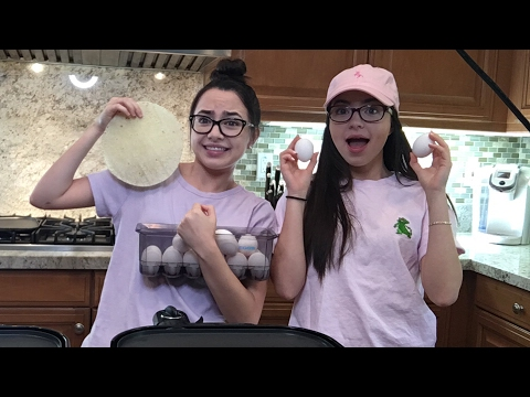 Live Breakfast Burrito Challenge - Merrell Twins