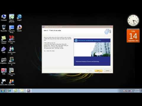 HD Cai dat V.EMIS Version 1.2.0 (Cấp đợt Tháng 9 năm 2012) Trong Windows 7 (32Bit)
