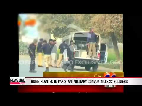 Bomb planted in Pakistani military convoy kills 22 soldiers