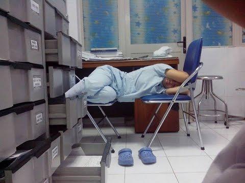 Những kiểu ngủ của dân Y