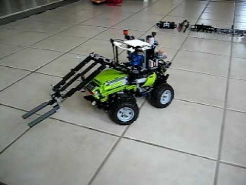 lego traktor mit frontlader youtube. Black Bedroom Furniture Sets. Home Design Ideas