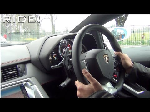 Lamborghini Aventador Ride - Accelerations, Downshifts and Revs